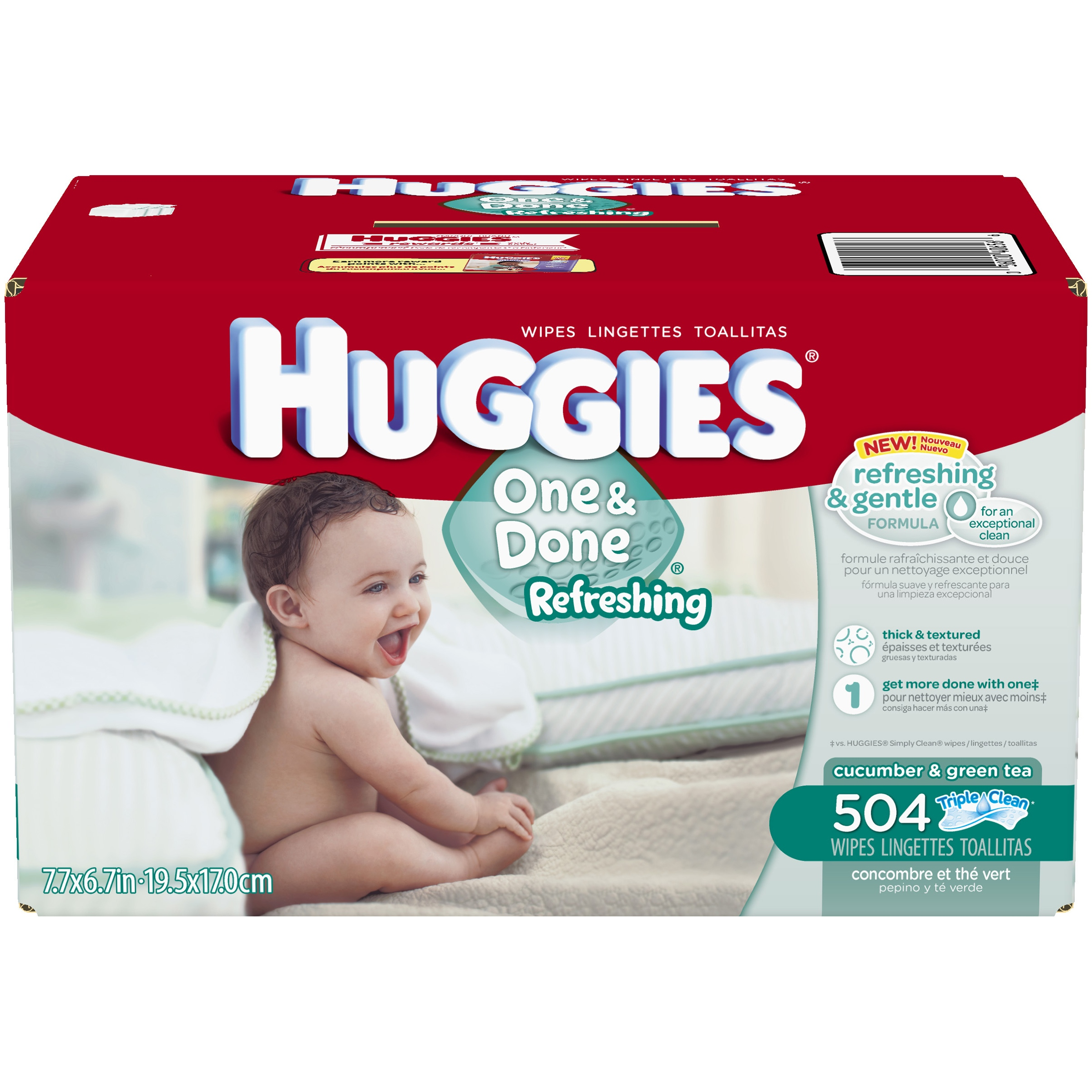 HUGGIES One & Done Refreshing Baby Wipes Refill, 504 sheets