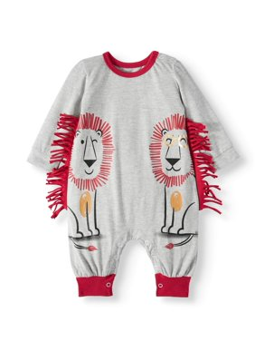 f76a48b5 Product Image Miniville Baby Boys' Lion Mane One Piece Romper
