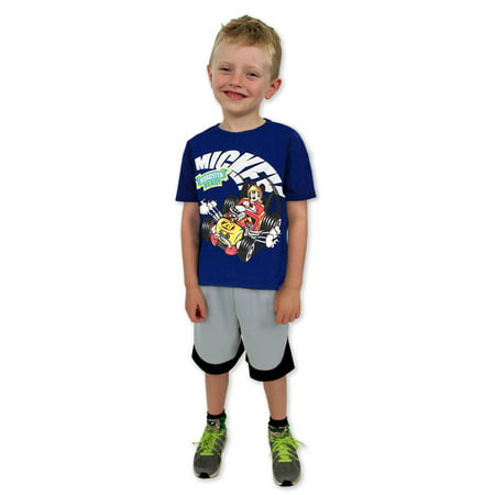 Mickey Mouse and the Roadster Racers Boys Tee (Baby/Toddler) 7YM4351](Mickey Mouse Birthday Outfit For Boy)