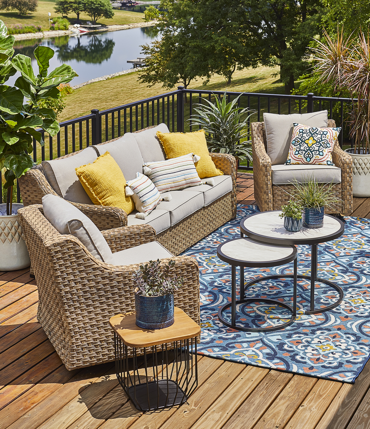 Better Homes & Gardens River Oaks 5-Piece Conversation Set with