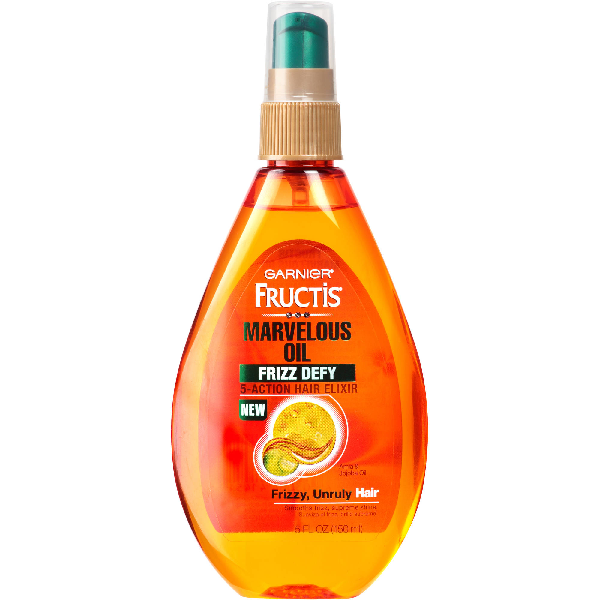 Garnier Fructis Marvelous Oil Frizz Defy 5-Action Hair Elixir, 5 fl oz