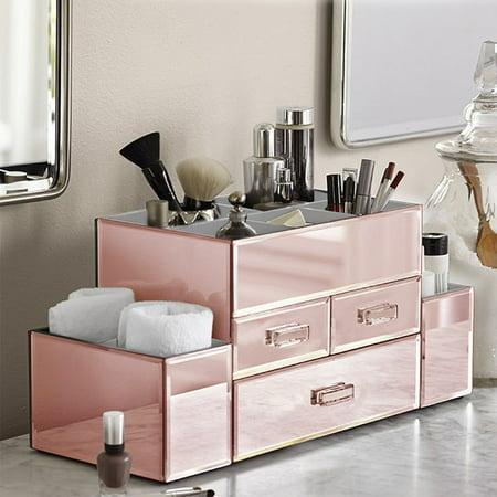 how to make wood bathroom organizer box