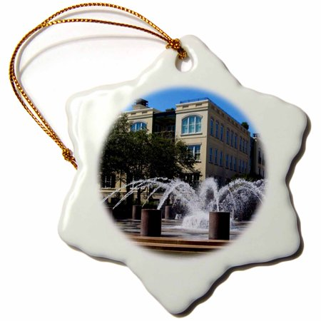 3dRose Fountain in Charleston, SC - Snowflake Ornament, 3-inch](Halloween Parties Charleston Sc)