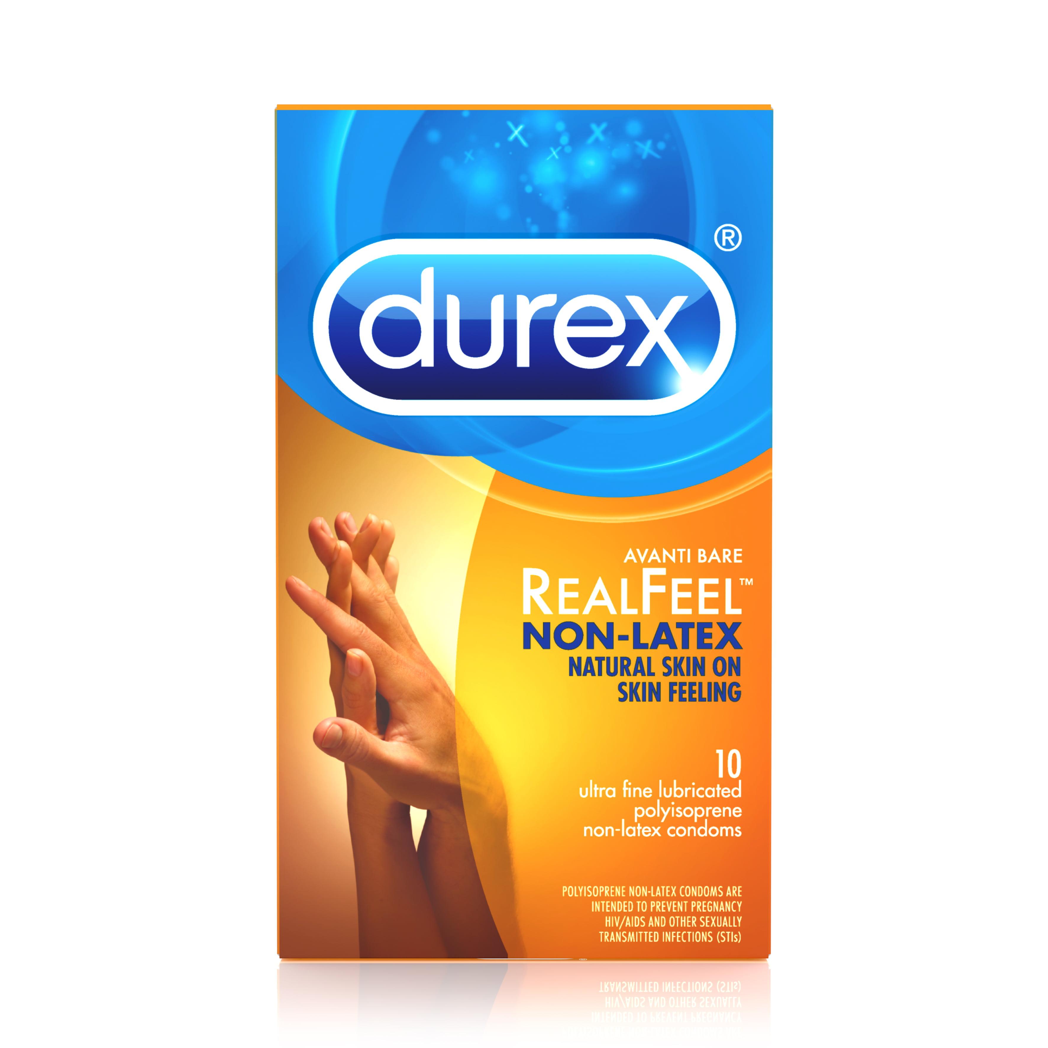 Durex Avanti Bare Ultra-Fine Lubricated Polyisoprene Non-Latex Condoms - 10 Count