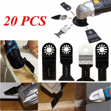 20 X Mix Blades For Fein Multimaster Bosch Ryobi Challenge