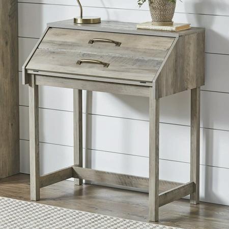 Better Homes and Gardens Modern Farmhouse Desk, Rustic Gray Finish