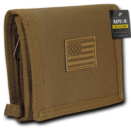 RapDom USA Tonal Coyote American Flag Tactical Tri-Fold