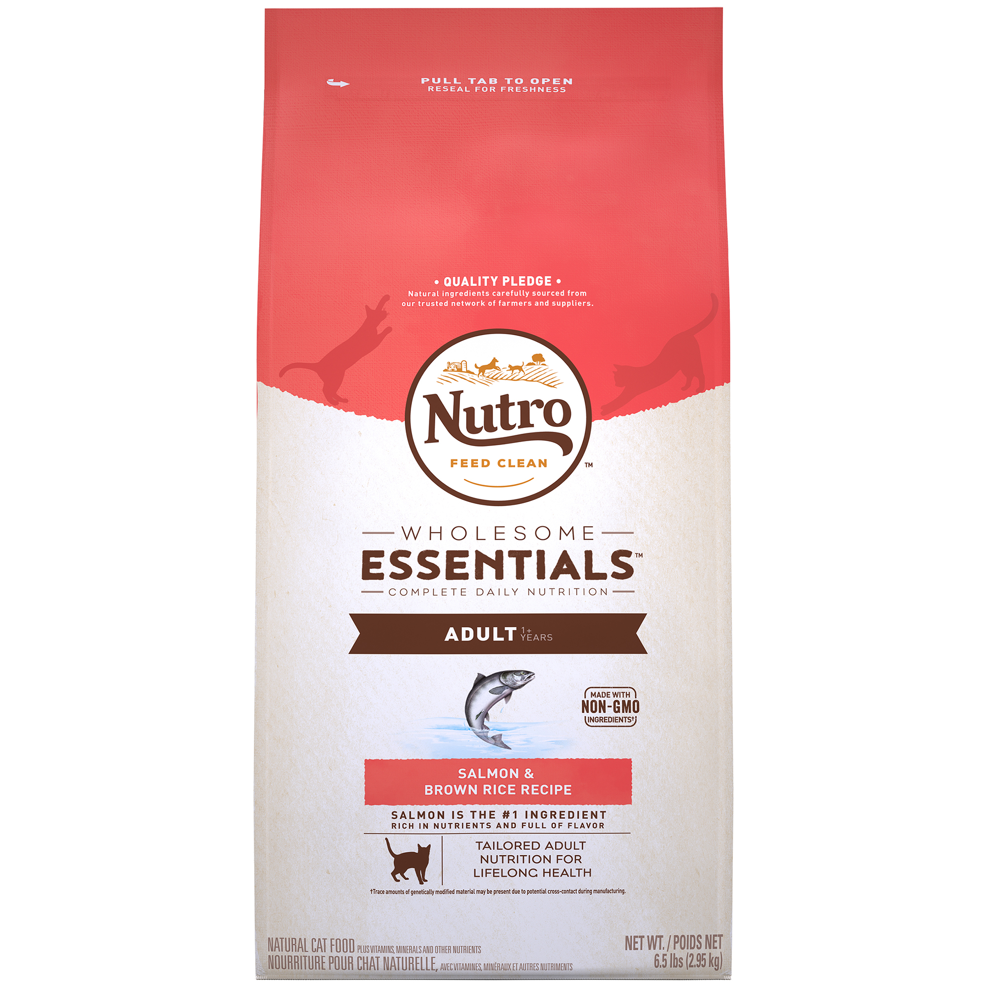 Nutro Wholesome Essentials Adult Dry Cat Food Salmon & Brown Rice 6.5 lb