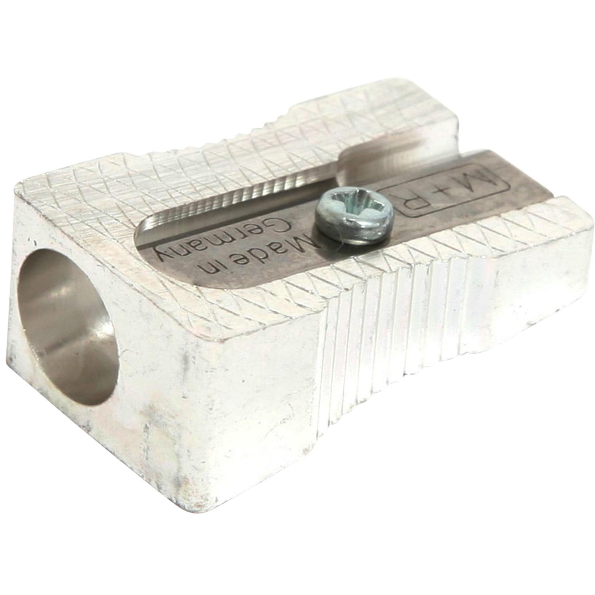 Baumgartens Compact Pencil Sharpener, Silver