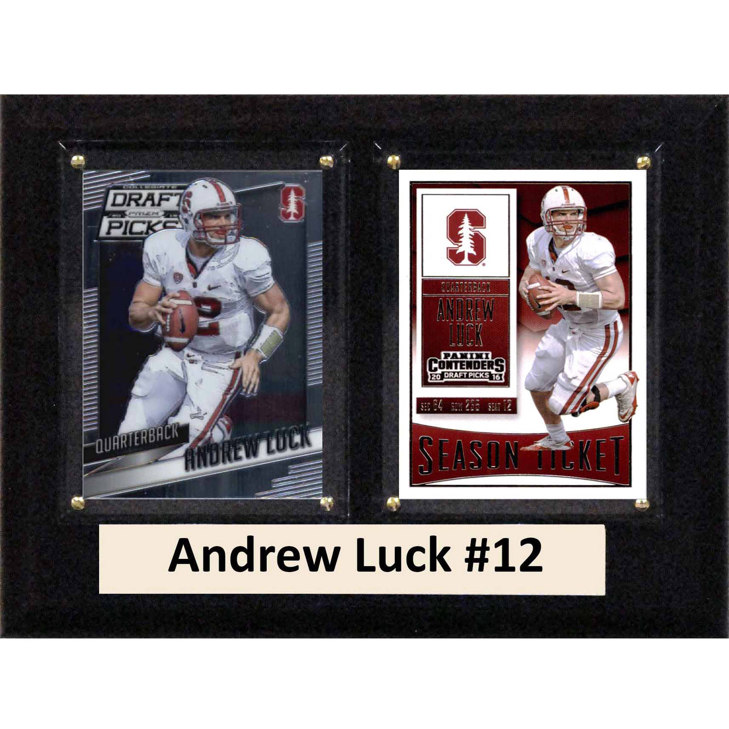 "C & I Collectables NCAA 6"" x 8"" Andrew Luck Stanford Cardinal 2 Card Plaque"