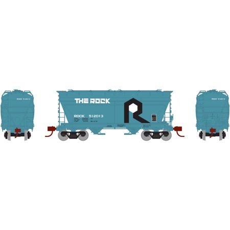 Athearn HO Scale ACF 2970 Covered Hopper Car Rock Island/RI (THE ROCK) #512013
