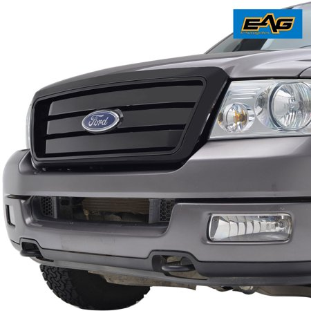 EAG F150 ABS Replacement Grille With Shell for 04-08 Ford F150 - Glossy Black