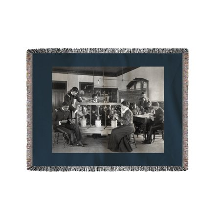 Agricultural Science At The Hampton Institute Photograph  60X80 Woven Chenille Yarn Blanket