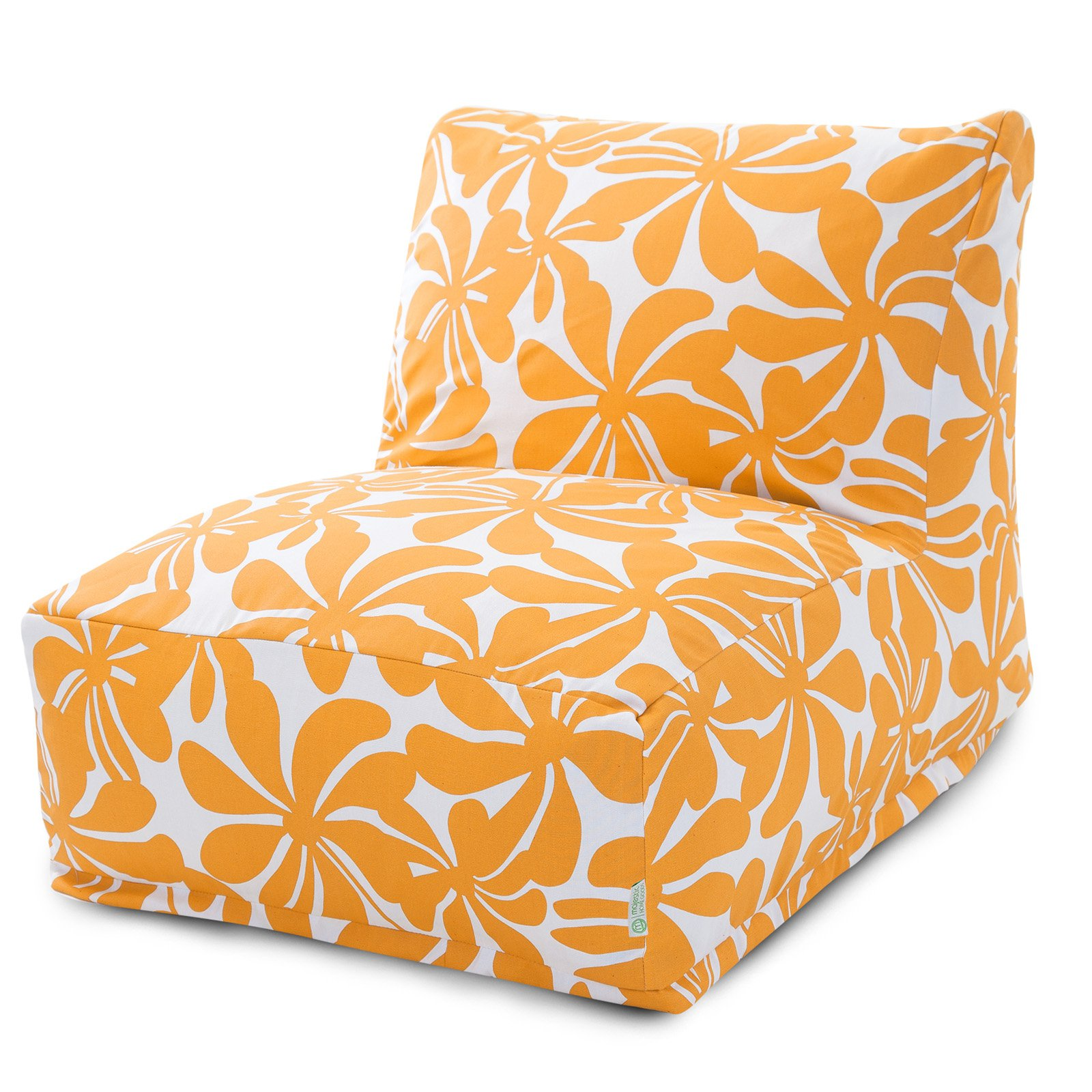 Majestic Home Goods Yellow Plantation Outdoor Bean Bag Chair Lounger
