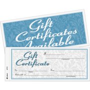Adams Two-part Carbonless Gift Certificates, 25 per Pack, White