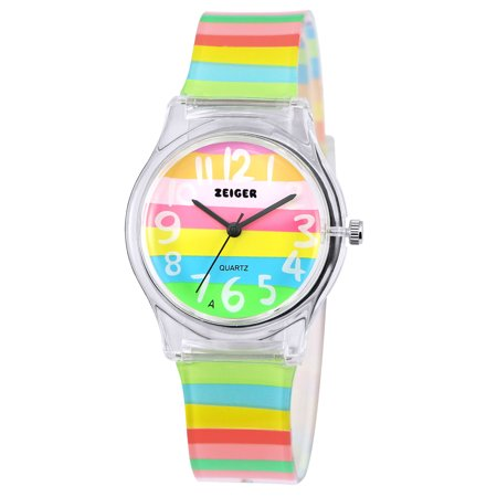 Zeiger New Cool Kids' Analog Multi-color Silicone Band Lovely Time Teacher Young Girls Teens Wrist - Hot Young Teen Girls