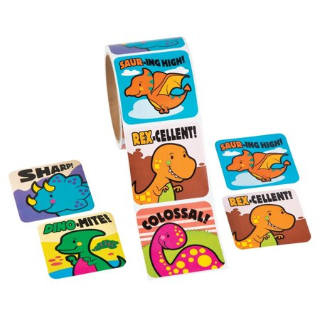 Jumbo Dinosaur Sticker Roll (100 Stickers) - Dinosaur Stickers