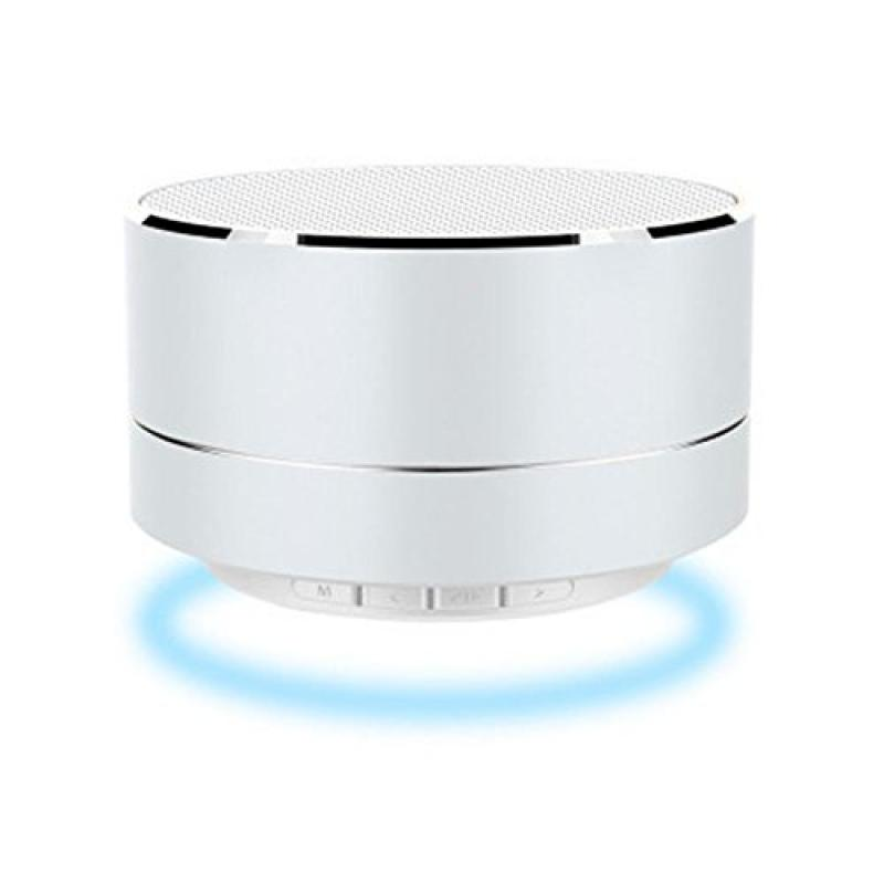 KAIQISJ A10 Silver Portable Wireless Transmission Minimalist Style LED  Reflective Light Bluetooth Speaker