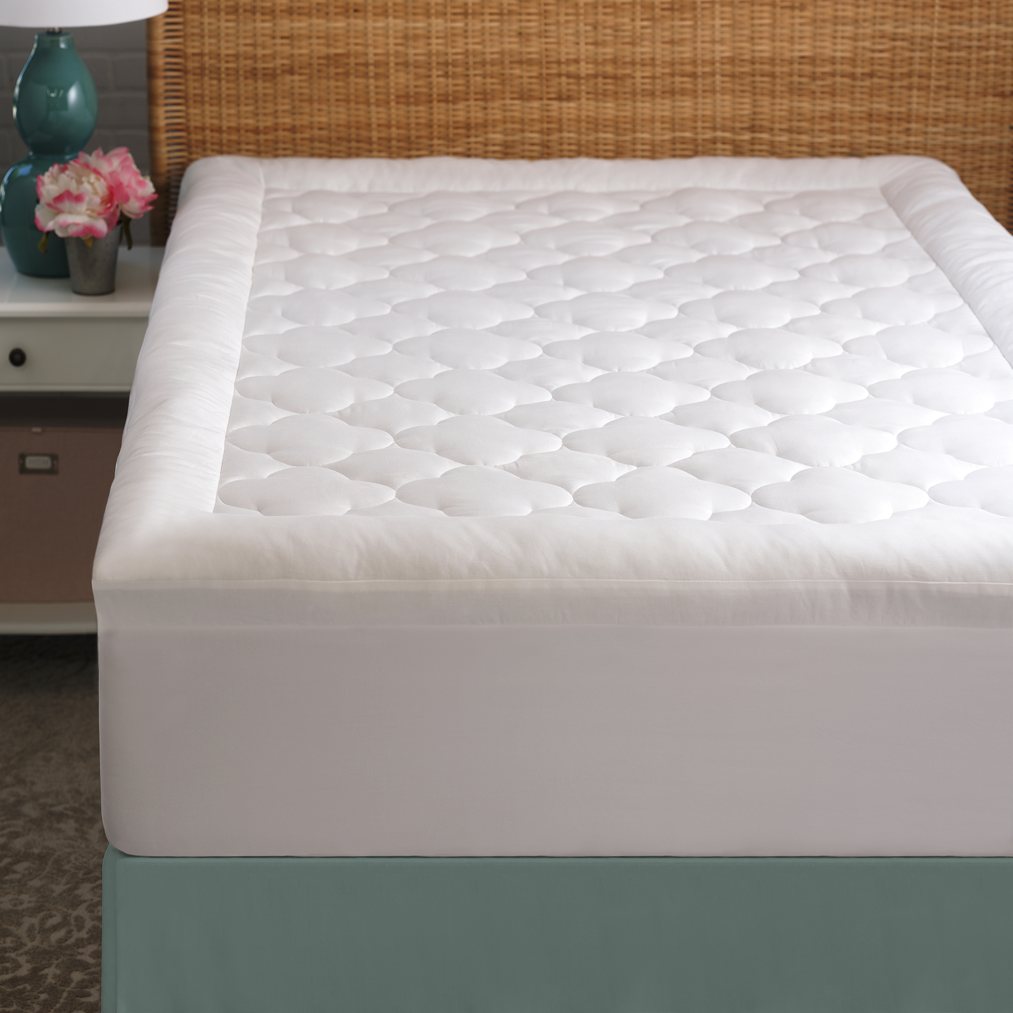Cozy Classics Clouds Mattress Protector, 2""