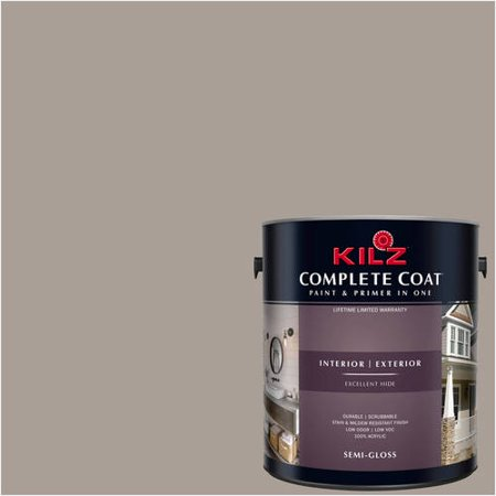 - KILZ COMPLETE COAT Interior/Exterior Paint & Primer in One #LL190 Mocha Mousse