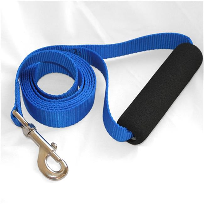 Majestic Pet Products 788995286172 1in x 6ft Easy Grip Handle Leash Blue