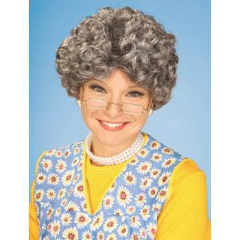 YO MOMMA WIG (Short Grey Wig)