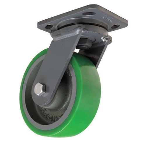 GRAINGER APPROVED Plate Caster,Swivel,Poly,6 in.,1250 lb., S-WH-6DB