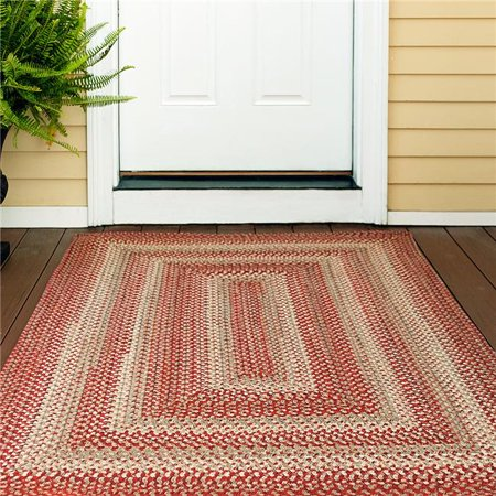 Homespice Decor 305640 6 x 9 ft. Terracotta Ultra Durable Oval Braided Rug - Rusty Brown - image 1 de 1
