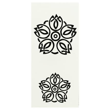 Symbol Tattoo - Abstract Floral Design Symbol Temporary Tattoo