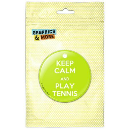 Keep Calm And Play Tennis Sports Pinback Button Pin Badge - German Sports Badge