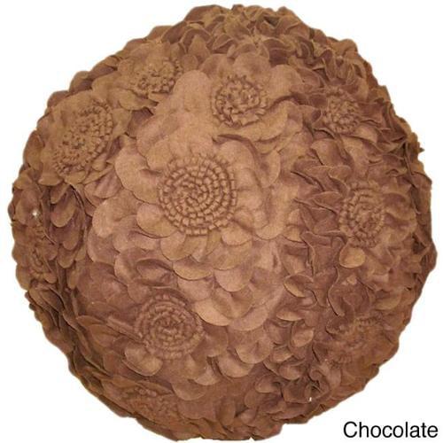 Flower Pouf (India) Chocolate
