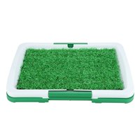 WALFRONT Dog Pet Potty Mat Grass Pad with Mesh+Collection Tray Home Indoor Restroom Toilet Pee Training, Dog Potty Mat