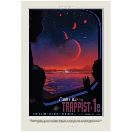 NASA/JPL: Visions Of The Future - Trappist Sci-Fi Space Fantasy Travel Advertisement Poster Wall Art