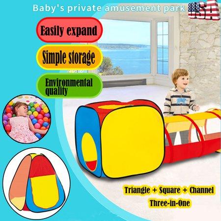 eb2cb6f64d06 Tuscom Unique Foldable Three-in-one Children s Tent Fit Tunnel Climbing  Game House - Walmart.com