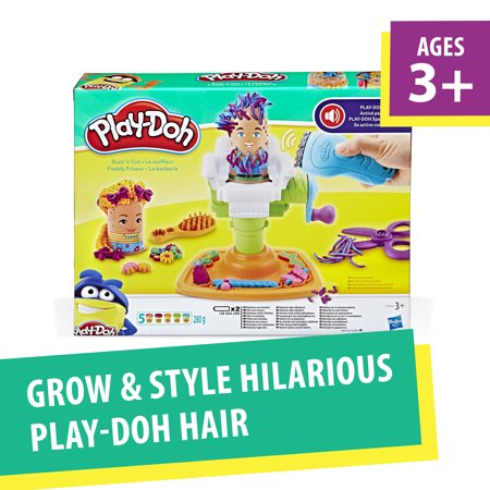 Play-Doh Buzz 'N Cut Fuzzy Pumper Barber Shop Set with Electric Buzzer (Playdough Mats Halloween)
