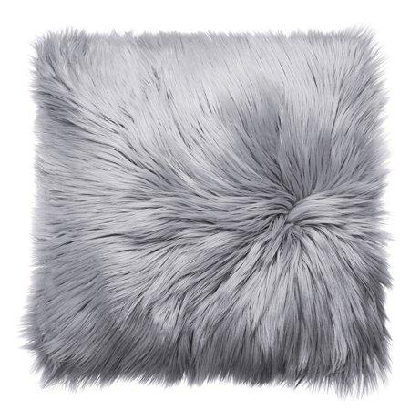 Faux Fur Pillow Cover - Meigar Decorative Throw Pillow Cover 18''X18'' Faux Fur Fluffy Plush Decorative Pillowslip Pillowcase Protecter for Car Sofa Bedroom Home Decor