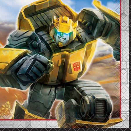 (3 Pack) Transformers Paper Beverage Napkins, 5 in, 16ct - Transformers Birthday