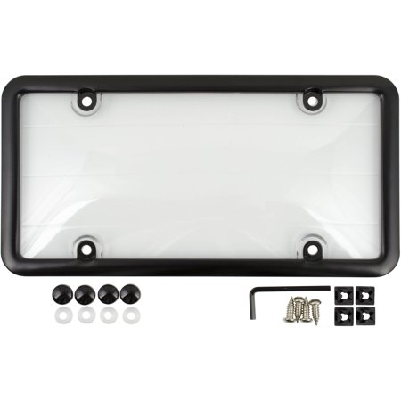 License Plate Cover and Frame, Black - Personalized License Plate Frame