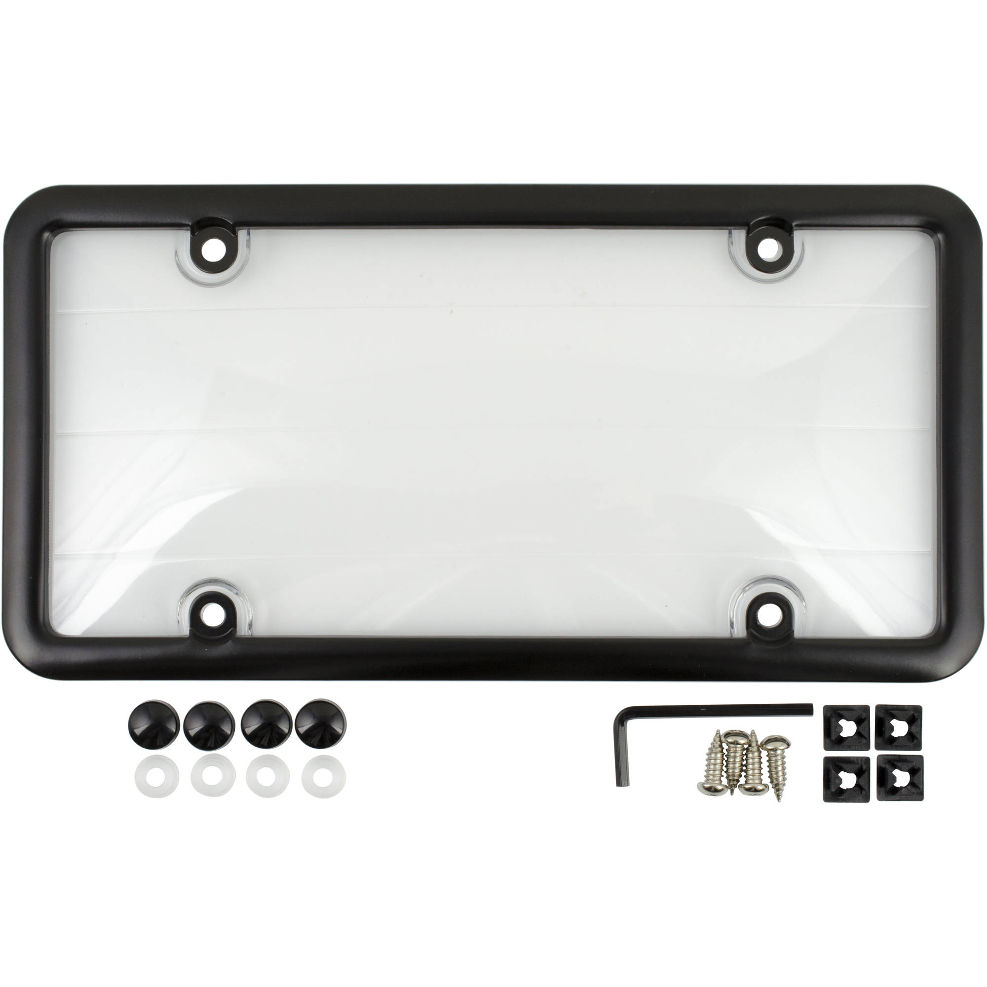 License Plate Cover and Frame, Black
