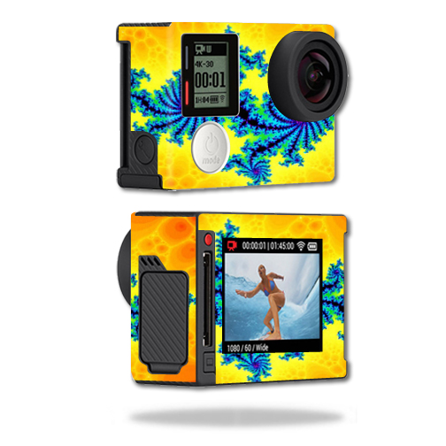 Mightyskins Protective Vinyl Skin Decal Cover for GoPro Hero4 Silver Edition Camera Digital Camcorder wrap sticker skins Fractal Works