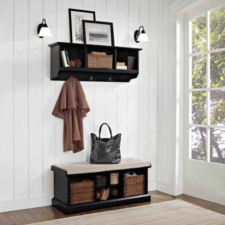 Crosley Furniture Brennan 2 Piece Entryway Bench And Shelf