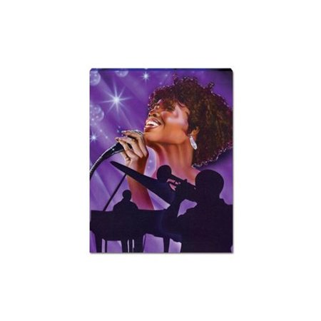 Image of African American Expressions Jazz Singer Graphic Art on Canvas