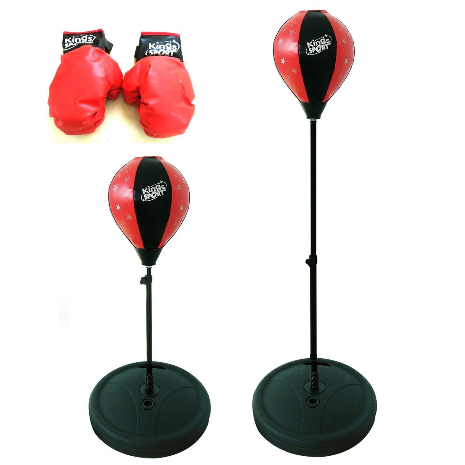 """Sport Boxing Punching Bag for kids With Stand & Boxing Gloves. This Punching Ball for Kids 43"""" H Will be the Best... by MegaToyBrand"""