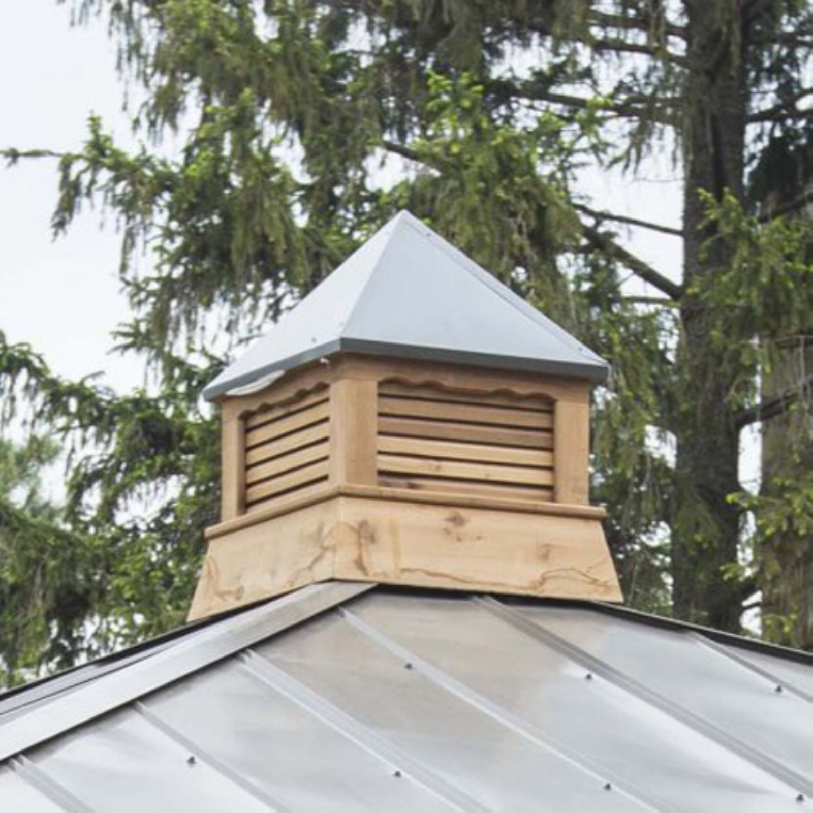 YardCraft Square Cedar Cupola with Bronze Metal Roof