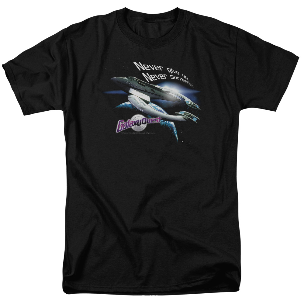 Galaxy Quest Never Surrender Mens Short Sleeve Shirt