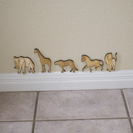 Safari Animals - 5 individual Wooden animals in all. Great for kids
