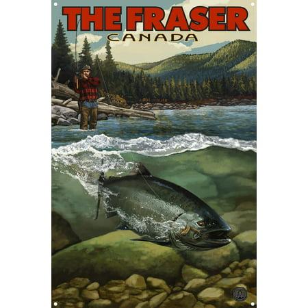 The Fraser British Columbia Canada Salmon Run Metal Art Print by Paul A. Lanquist (12