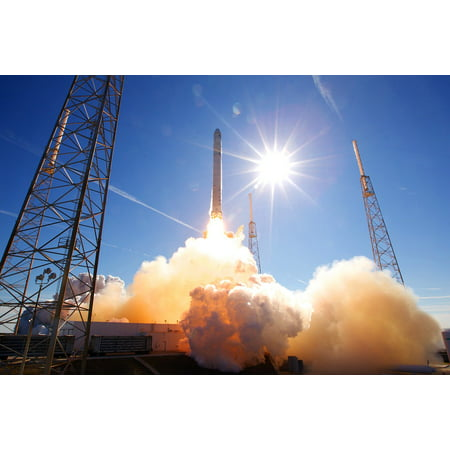 Laminated Poster Flames Rocket Launch Spacex Launch Lift Off Poster Print 24 X 36