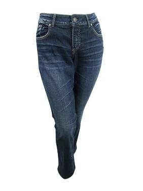 Silver Jeans Co. Women's  Plus Size Elyse Slim Bootcut Jeans (18X31, Indigo)