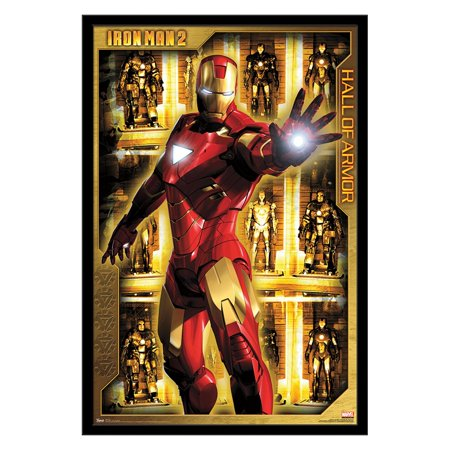 Trends International Iron Man 2 Hall of Armor Wall Poster 22.375